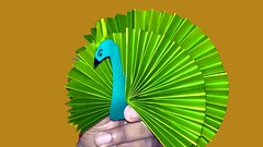 DIY Paper Peacock Tutorial | How to Make an Easy Origami Peacock | DIY Craft Activities (Jr Origami) Tags: diy paper peacock tutorial | how make an easy origami craft activities
