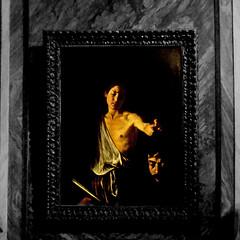 Caravaggio, Davide con la testa di Golia (pom.angers) Tags: panasonicdmctz30 february 2017 rome roma lazio italy italia europeanunion galleriaborghese villaborghese caravaggio painting 17thcentury art davideegolia museum 100