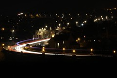Light trails across bridge (doreen_maclennan) Tags: inverbervie jubileebridge lights bridge trails light lighttrails