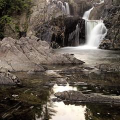 Waterfall With Obvious Name (95wombat) Tags: adirondack boquetriver splitrockfalls newyork evening