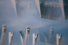 How Many Porsches Do You See? :) (freyavev) Tags: porsche porschesculputure art architecture porschemuseum cokin cokinfilter prism prismeffect stuttgart zuffenhausen badenwürttemberg germany deutschland canon canon700d vsco