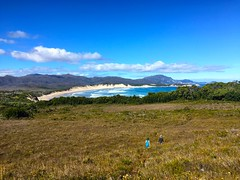 Walking from Spain Bay to Stephens Beach. South West Tasmania.