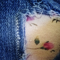 Sunday Jeans (Smile Moon) Tags: macromonday macro monday jeans holes rosebuds undies cheeky hole tear ripped torn