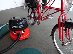 Henry (stevenbrandist) Tags: numatic henry red bicycle moulton moultonbicyclecompany tsr tsr27 spaceframe vacuum cleaner