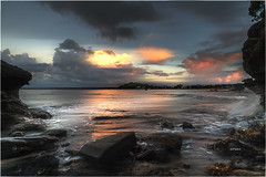 Last Light Cheltenham Beach (elpedro1960) Tags: auckland newzealand seascape sea haurakigulf sky sunset clouds northhead devonport