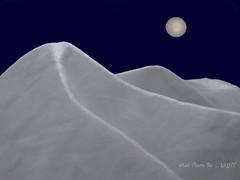 MoonLIGHT Sonata - Explored -MM- Theme- Cloth/Textile (LOVE.OVER.LUST.) Tags: mm macromondays clothtextile hmm cloth textile handkerchief white tabletop conceptual creative explored thematic snowscape mountain landscape moon woven khadicloth copyspace photoshop