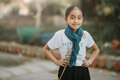 Khmer Krama (Piaklim) Tags: kid kidphotography kids children green lxc preset posing model fashion krama cambodia khmer outdoor outdoorportrait