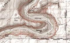 Arizona sandstone that calls to me (listorama) Tags: map topographic usa horseshoebend arizona sandstone coloradoriver