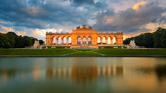Gloriette at the blue hour (Bernhard Sitzwohl) Tags: gloriette sight bluehour sunset reflection water pond imperialaustria monument outdoor
