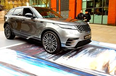 Day 101 (JoRoSm) Tags: range rangerover velar manchester picadilly gardens car auto automobile vehicle suv grey silver luxury 4x4 4wd offroader jlr jaguarlandrover landrover british