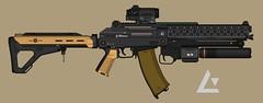 KH-AR 76 Sandhawk (M0KII) Tags: pmg m0kii kh ar 76 sandhawk laser bayonet