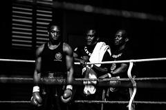 Boxing I (Séb Mory) Tags: boxing boxe meeting combat match boxer boxeur noiretblanc blackandwhite entraineur coach film portrait people nikon d700 70200