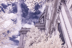 Infrared London April 16th 2017 (22 of 66) (johnlinford) Tags: canon40d canonefs1022 infrared infraredlandscape infraredlondon london cityoflondon city skyscraper stpauls cathedral