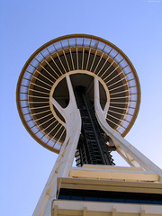 "Saucer section of Space needle • <a style=""font-size:0.8em;"" href=""http://www.flickr.com/photos/34843984@N07/14925273393/"" target=""_blank"">View on Flickr</a>"