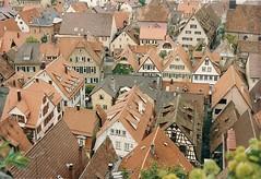 Reutlingin92Spring0017 (David Denny2008) Tags: red germany spring rooftops 1992 tubingen