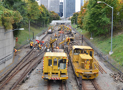 replacing the subway tracks