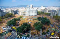 Acte central de la campanya Ara s l'hora a Plaa Catalunya de Barcelona (Marc Puig i Prez) Tags: barcelona cat de novembre 9 catalunya es anc referendum nacional ara consulta plaa assemblea acte pasos catalans independncia campanya lhora 9n2014