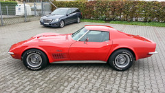 Corvette C3 Stingray Coupe (GNII-004) (Thomas Becker) Tags: red black rot chevrolet leather rouge big gm general stingray thomas c samsung motors note turbo smartphone chevy bumper chrome galaxy numbers ii correct automatic block vin matching 404 1972 corvette coupe v8 transmission coupé targa c3 becker mille miglia codes 454 973 hydramatic ls5 worldcars 141012 aviationphoto 454ci 454cui 74l 1z37w2s516833