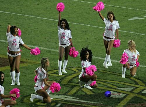 Redskinette Cheerleaders.