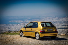 (gtheoch) Tags: sea mountain skyline gold mt view citroen saxo vts imitos ymittos