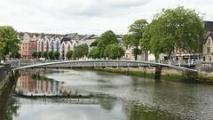 Shandon Bridge (Stefan Jrgensen) Tags: bridge ireland reflection 2004 water river cork sony lee shandon pedestrianbridge riverlee 2014 a700 shandonbridge dslra700