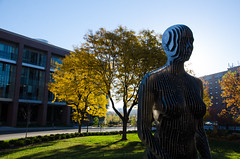 University of Minnesota (doug dibble) Tags: college university minneapolis twincities vanishing umn universityofminnesota universityofminnesotatwincities recreationandwellnesscenter julianvossandreae spannungsfeld physicsandnanotechnology vanishingstatue