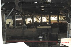 View inside shed (LC1073) Tags: d50 1219 roundhouse c32 steamloco 5096 2606 broadmeadow 3203 z19 z26 nswgr 26class dubsco broadmeadowloco broadmeadowlocodepot broadmeadowroundhouse transportheritagensw thnsw transportheritagenewsouthwales
