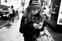 Tokyo 2014 (Dance with the Strangers) Tags: people monochrome night japanese blackwhite photographer 28mm shibuya streetphotography documentary cap streetfashion 2014 candidportrait tokyocity urbanasia bureboke grdiv ricohgrd4