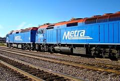 October by the BNSF Racetrack (Chicago Rail Head) Tags: trains amtrak transportation freighttrains metra bnsf brookfieldill mainlinetraffic fall2014