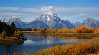 Mount Moran in Fall