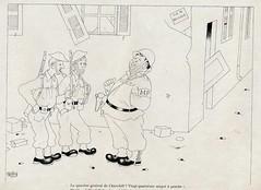 Albert Dubout Album 1944  cartoon  churchill