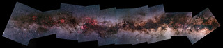 2014 Milky Way 10 panel mosaic from Cas to Sco 2012-13-14 with Yashica ML50mmf2 + 550D