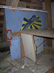 the attic, where I found the airplane panel (photosucher) Tags: bbc ddr der flugplatz gdr ussr cccp flugzeuge udssr sowjetische gssd gsvg militrische fliegerkrfte