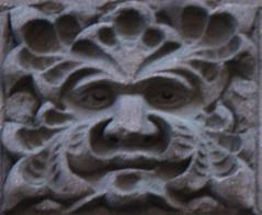 w 22nd nyc (damien jay) Tags: blurry architecturaldetail decoration ornament greenman undersize