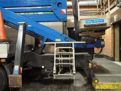 Clunk Click (roadscum) Tags: england london industrial cherrypicker lift mechanical lorry totes loadingbay