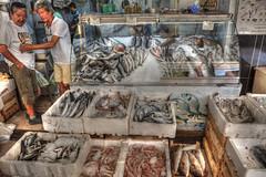 fish market (stevefge) Tags: fish turkey market stall marmaris tonemap