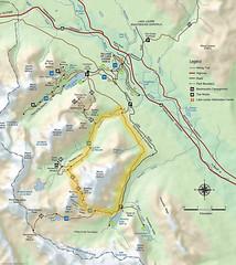 Boucle de Moraine Lake - Sentinel Pass- Paradise Valley - Moraine Lake (trekmaniac-is-back) Tags: canada alberta 1995 carte banffnationalpark diapo randonnee lacmoraine canada95