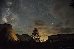 Cosmic Eruption (BethAMyers) Tags: nightphotography beautiful night stars utah nightscape galaxy zion milkyway starscape