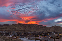 Breathtaking Herriman Sunset (harmonjeff) Tags: sunset landscape herriman burningclouds