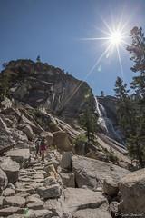 The Trail To The Top of Nevada Fall (GlobalGoebel) Tags: california park sun 3 hot fall canon eos waterfall nationalpark hiking mark iii nevada hike trail national yosemite 5d yosemitenationalpark hikers np sunstar mark3 markiii 1635mm 1635mmf28l 1635mmf28 canonef1635mmf28l canonef1635mmf28liiusm