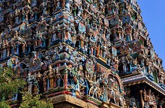 Gopuram(Tower gate) of Meenakshi Amman Temple