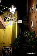 Sintra (galabarmo) Tags: flores portugal noche sintra nocturna escaleras callejon galabarmo