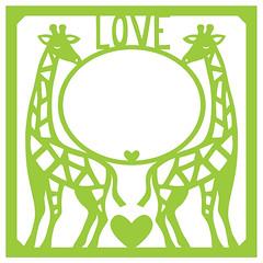 giraffe-love-mat (emily dyer) Tags: silhouette svg papercut diecut