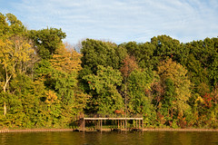 Early Autumn, Lake Shafer, Monticello, Indiana (Roger Gerbig) Tags: autumn fallcolors indiana monticello lakeshafer canon5dmkii rogergerbig