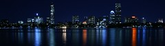 Boston city (TAMIM AFANDI) Tags: hello city blue light sea panorama never color building tree fall colors yellow boston skyline night buildings river dark photography lights leaf construction darkness time sleep charles rush midnight imagine unclear tamim afandi