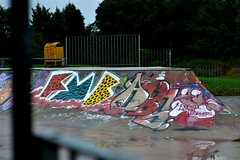 FMB by Kosy, ABS by Coek. (Steve Urbannn) Tags: street england art up skinny graffiti character fat tag south yorkshire funky cap 80s snoopy captain mind mtn production gadget piece 55 alter abs dub throw omen fill caveman belton tsm molotow niv fmb coek dealt kosy inspecter five5 benderz