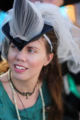 Happy Halloween (wyojones) Tags: street portrait woman cute halloween girl beautiful smile hat costume pretty florida witch expression blueeyes redhead sparkle lovely redhair netting johnspass goodwitch wyojones johnspassseafoodfestival seafooidfestival wircheshat