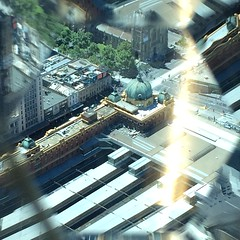 Flinders Station (Christine Amherd) Tags: city tower station creativity cosmopolitan view australia melbourne australien ine flinders eureka weltstadt skydeck eurekatower passionate flindersstation mypassion grossstadt otherview eurekaskydeck88 christinescreativityphotography christinesphotography