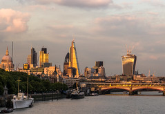 London Skyline Lit by the Evening Sun (Sony RX100 Mk2) (markdbaynham) Tags: old city uk urban building london tower heron st skyline cheese modern skyscraper square view cathedral sony capital pauls gb metropolis grater 42 mile compact rx natwest walkie talkie rx100m2 rx100mk2