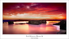 Soldiers Beach (Mathew Courtney) Tags: color colour reflection water clouds sunrise rocks long le nsw centralcoast soldiersbeach